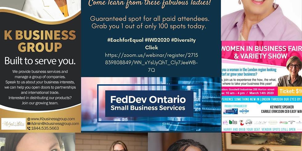 Women In business Fair  ONLINE WEBINAR!