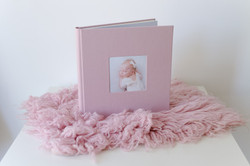 Album im rosa Leinen-Einband