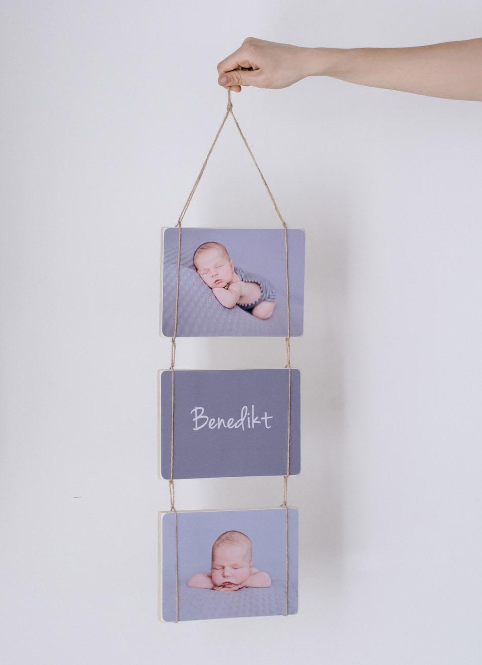 Baby Newborn Shooting - Holzbilder
