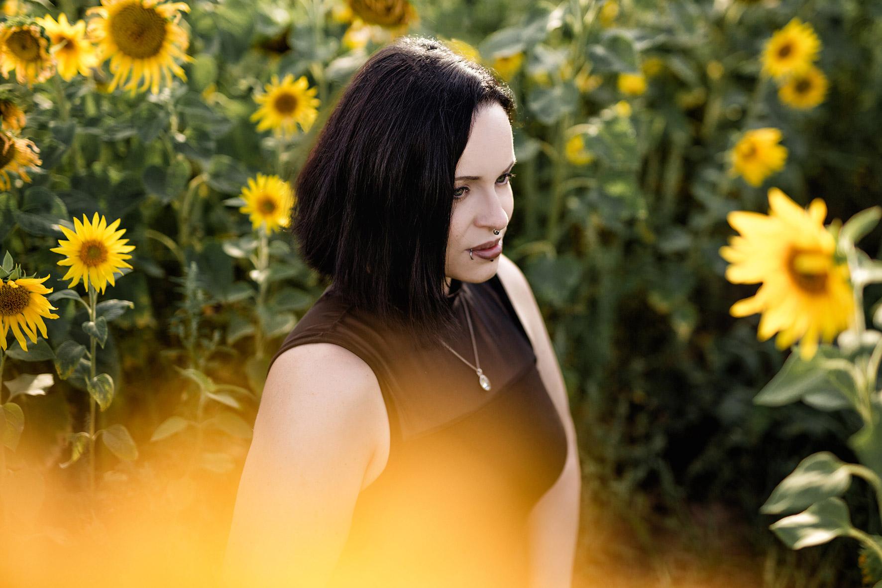 Fotoshooting mit Sonnenblumen