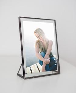 Portraitfoto im Glas-Glas Rahmen