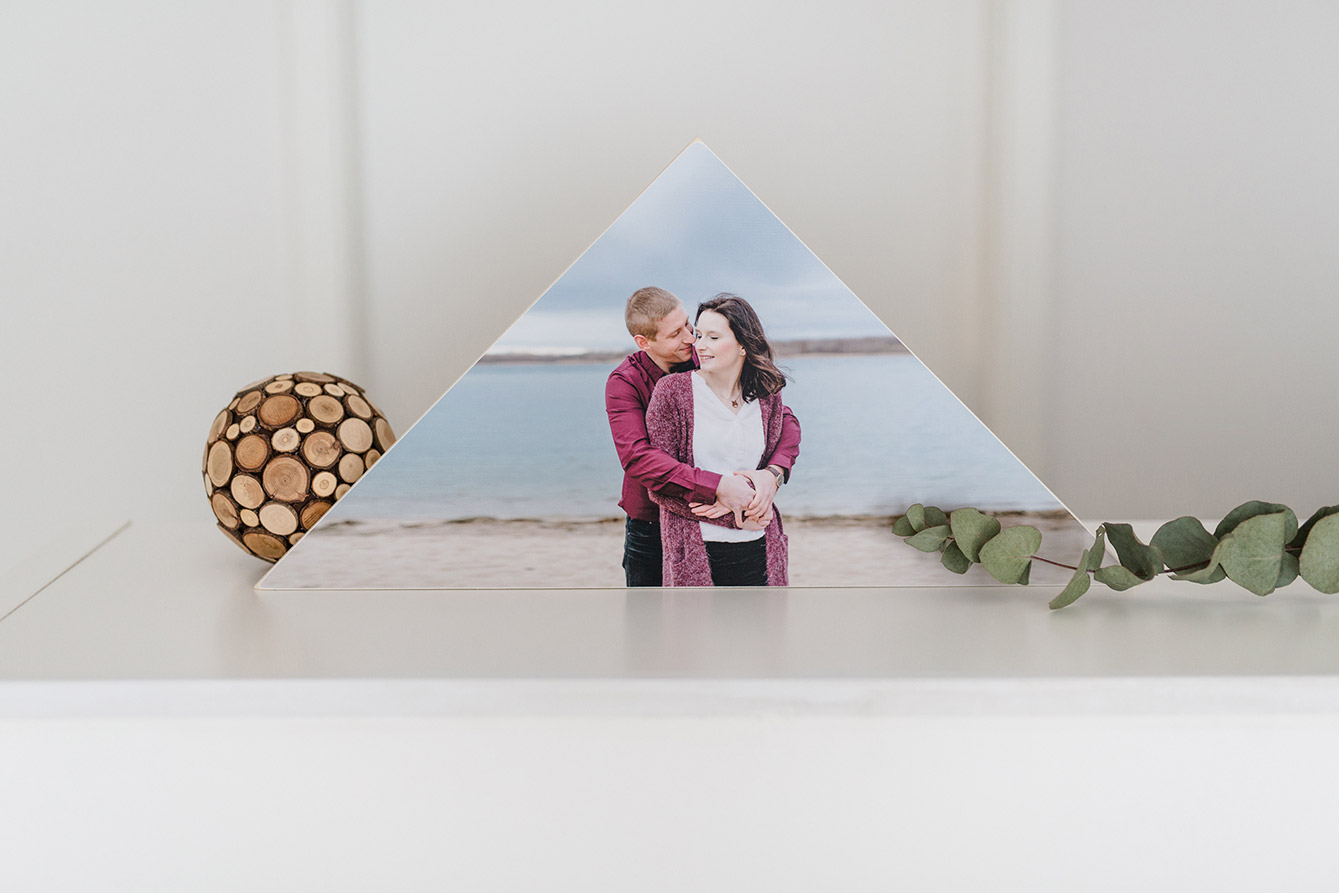 Fotoshooting Paar - Holzbild