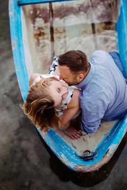 Pärchenfoto im Boot