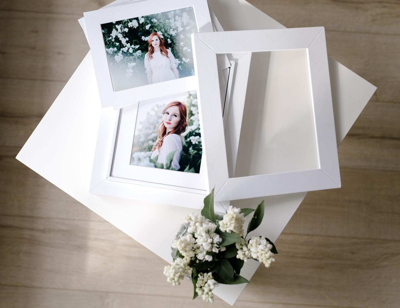 Offene Foto-Passepartout-Box in weiß