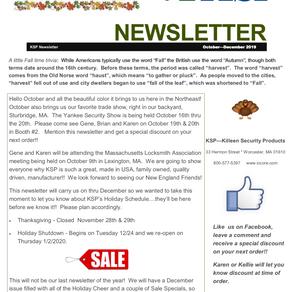 2020 New Year Newsletter!