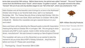 October - December 2019 Newsletter!