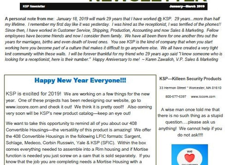 January - March 2019 Newsletter!