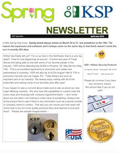 KSP Spring 2019 Newsletter