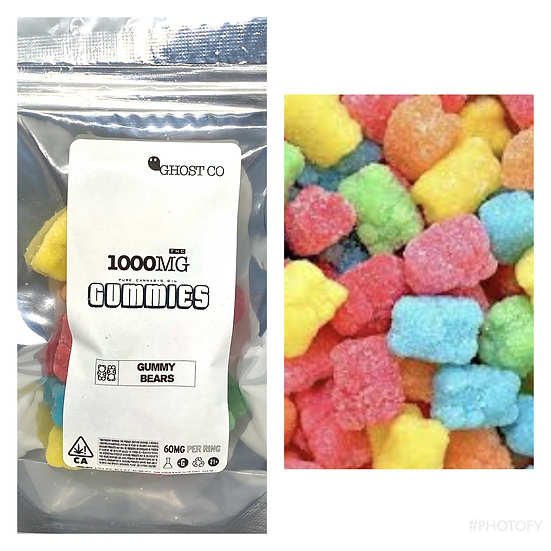 1000mg Ghost Co Gummy Bears
