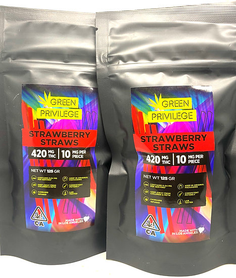420mg Strawberry Straws
