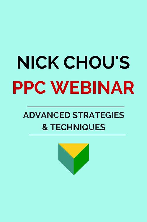 PPC Webinar - Advanced Strategies and Techniques