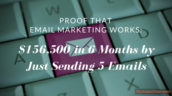 Proof That Email Marketing Works—$156,500 in 6 Months by Just Sending 5 Emails