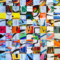 nk-multiple personality-36x36 woven phot