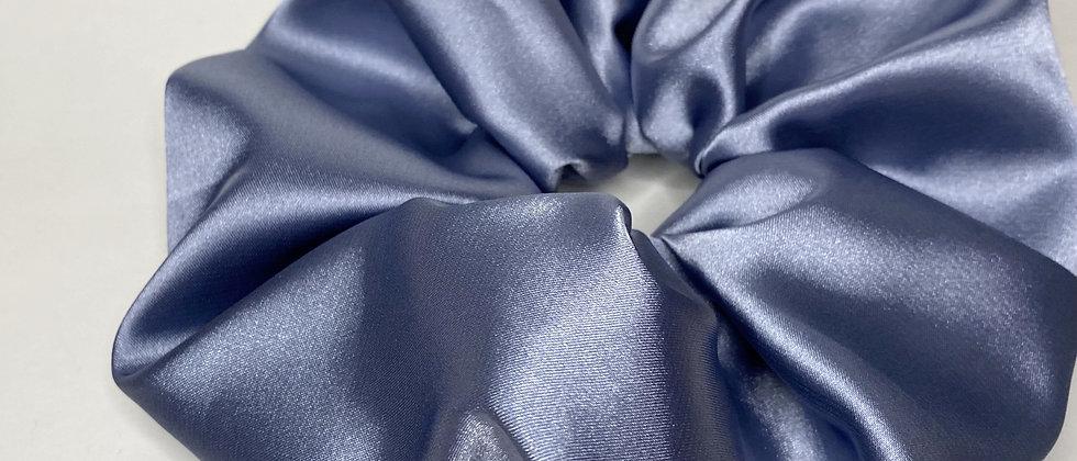 Large Cerulean Blue Satin
