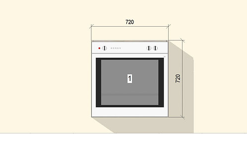 Under Counter Oven (720 mm Wide) Base Unit x 720 MM High