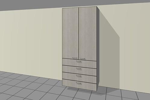 4 External Drawers (900 mm Wide) 2 Door + Shelves x 2300 MM High
