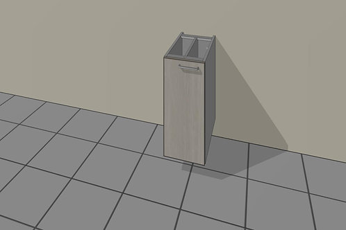 Tray (250 mm Wide) Base Unit Hinged Left x 720 MM High