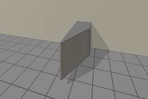 1 Door Angled (500 mm Wide) Hinged Left x 720 MM High