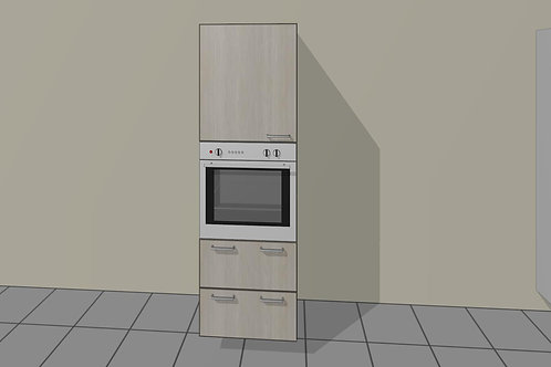 Tall Kitchen ELO Single 1 Door + 2 Drawer 1920 MM High x 720 MM Wide