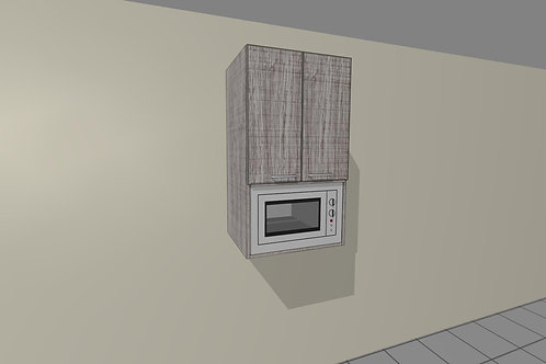 Microwave Cupboard WU 1100 MM High x 620 MM Wide