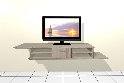 Mary-Jane Floating TV Unit (2,133 Meter Wide x 0,281 Meter High)