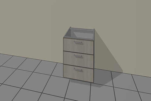 3 Drawer (400 mm Wide) Base Unit x 720 MM High