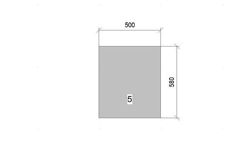Veggie Basket (500 mm Wide) Base Unit 3 x Wicker x 720 MM High