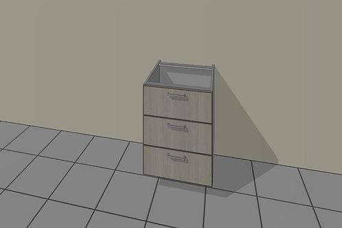 3 Drawer (500 mm Wide) Base Unit x 720 MM High