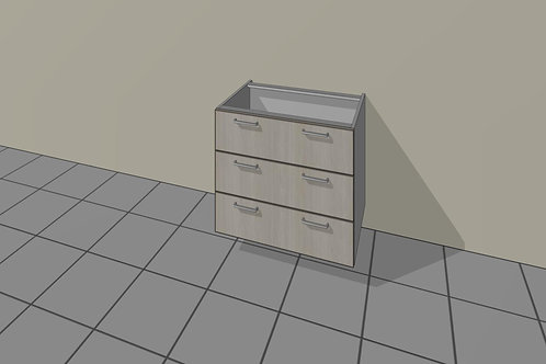 3 Drawer (900 mm Wide) Base Unit x 720 MM High
