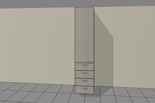 4 External Drawers (600 mm Wide) Single Left x 2300 MM High