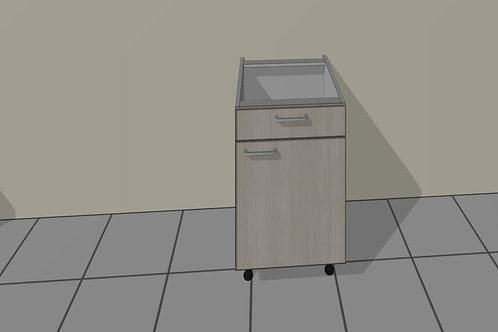 1 Door & 1 Drawer (500 mm Wide) Hinged Right x 720 MM High