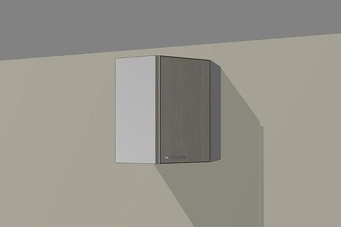 Wall 1 Door Corner Diagonal Right 600 mm Wide x 720 MM High