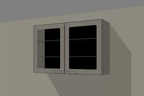Wall 2 Door Glass 1100 mm Wide x 720 MM High