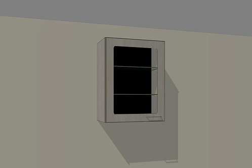 Wall 1 Glass Door 500 mm Left Hand x 720 MM High