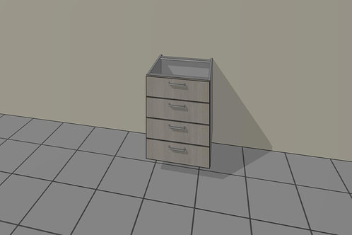 4 Drawer (500 mm Wide) Base Unit x 720 MM High