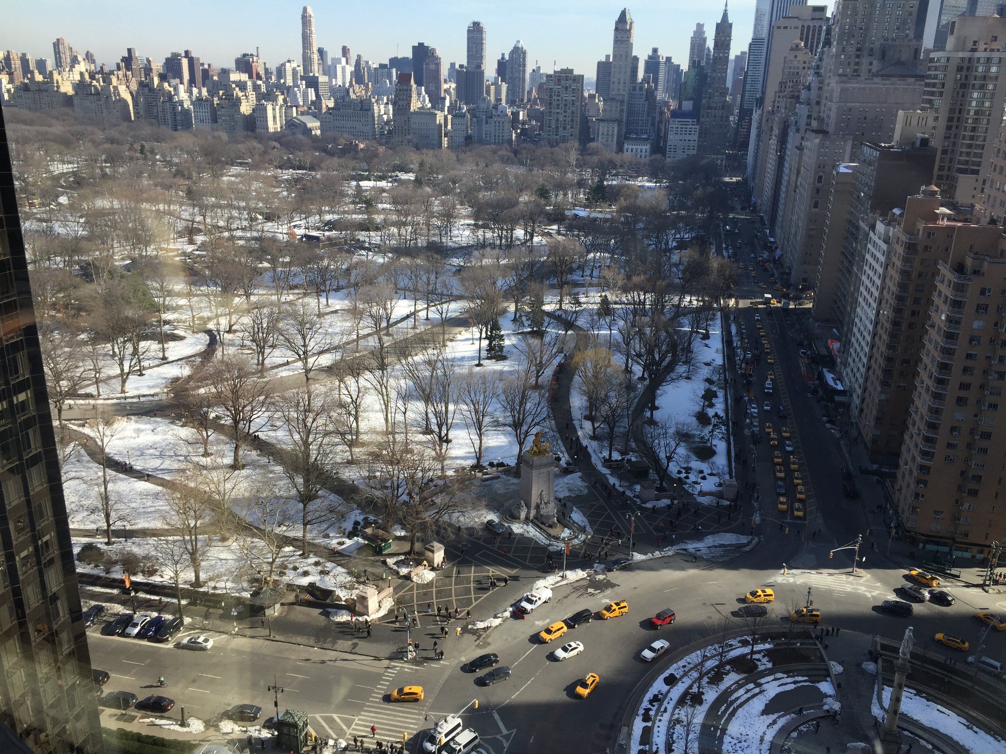 A View from the Mandarin Oriental at Columbus Circle