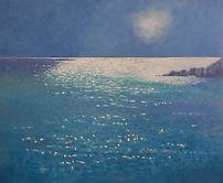 'Sea sparkle', oil on canvas, 120x100cms