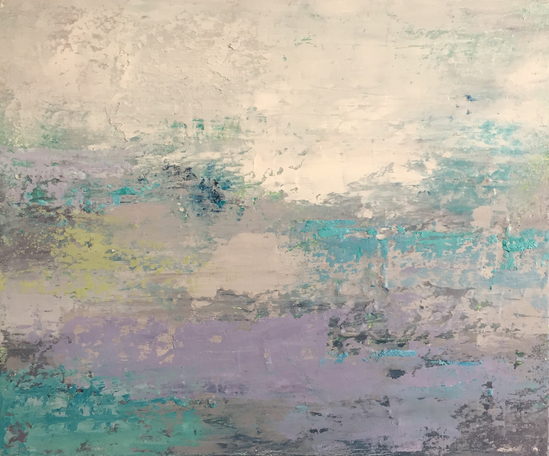 'Sea shimmer' oil on canvas £80