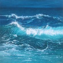 'Turquoise seas', oil on canvas, 80x80cm