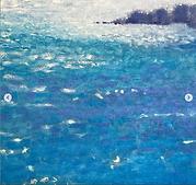 'Sea sparkle' oil on canvas, detail, Jos