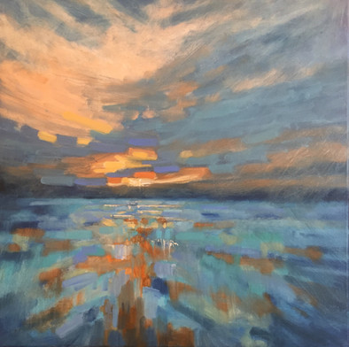 'Ablaze in my heart' £380 Currently for sale at Salcombe Art Club Exhibition to view until September