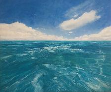 'Across the crystal sea', oil on canvas,