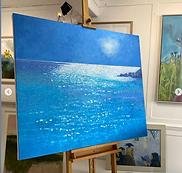 'Sea sparkle' oil on canvas, Josie Gould
