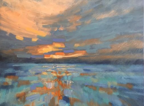 'Ablaze in my heart' oil on canvas, £445