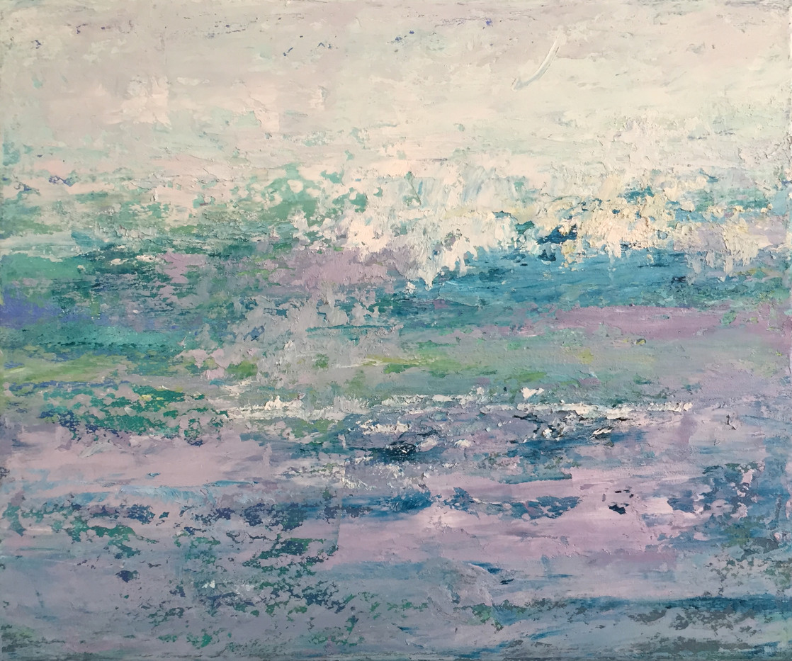 'Sea shimmer 2' oil on canvas  £80