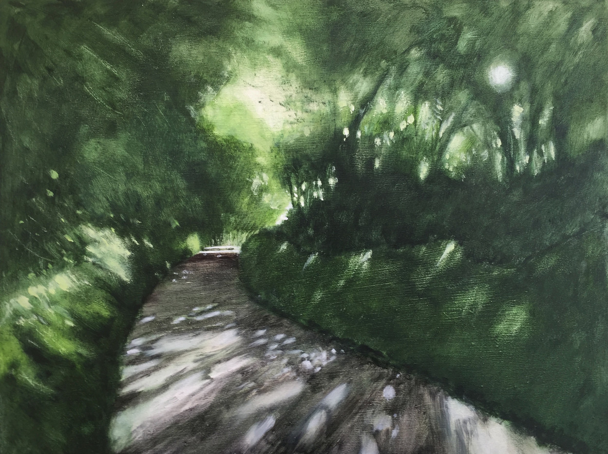 'Dappled Devon lane - summer' SOLD
