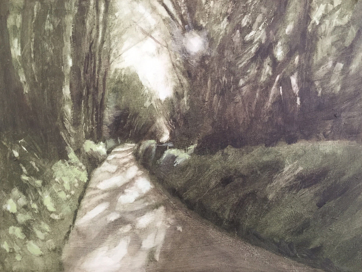 'Dappled Devon lane' SOLD