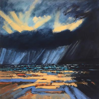 'Sun and storm 2, Polzeath' SOLD