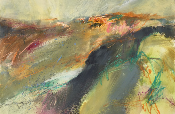 Autumn Glimpses from Top Tor. SOLD