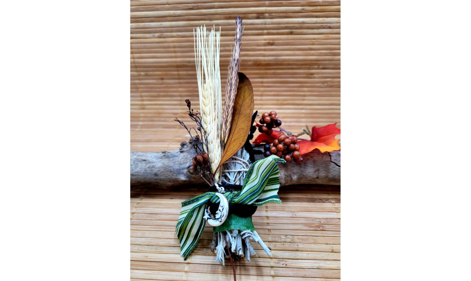 Sage bundles adorned with Crescent Moon Charm